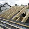 Installing new roof timbers and covers